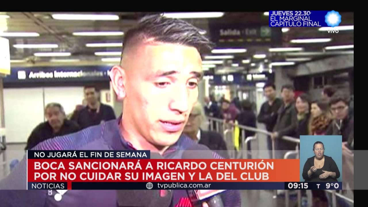 Ricardo Centurión: Boca Sancionará A Ricardo Centurión