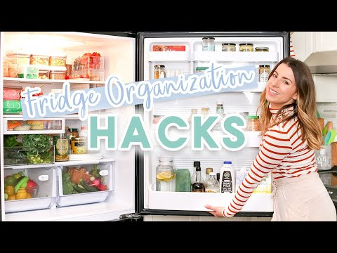 The BEST Fridge Organization Hacks | What's In My Fridge