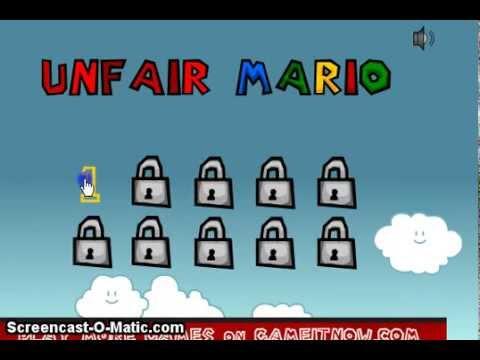 Unfair Mario 1- Vaya Ostinada Esta!!!!