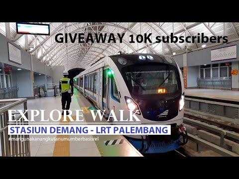Explore Walk ~ LRT Palembang ~ Stasiun Demang Station ~ Sumatera Selatan