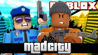 How to get money and escape from jail in MAD City at ROBLOX (English)