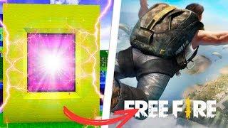 COMO FAZER UM PORTAL PARA O MUNDO DO FREE FIRE BATTLE GROUND - Minecraft