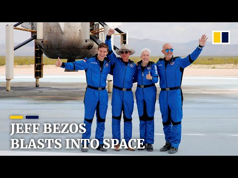 'Best day ever': Amazon founder Jeff Bezos launches to space