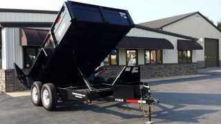 7' X 12' Bri-Mar 12K Limited Low Profile Dump Trailer For Sale - Trailer Enterprises
