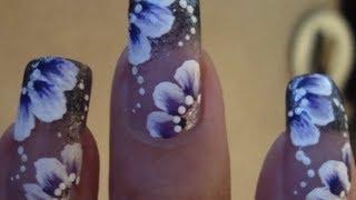 One Stroke Flower Nail Tutorial