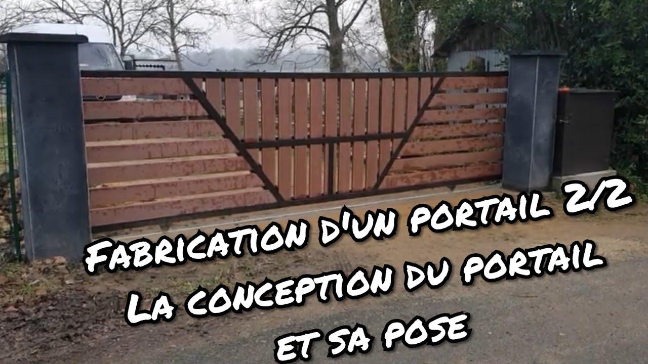 Faire Son Portail En Fer comment fabriquer un portail coulissant? 2/2 - fabrication du portail et  son installation
