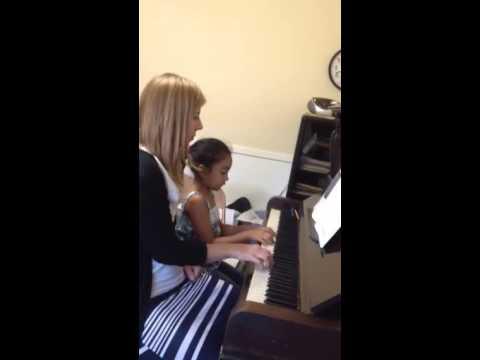 Ellen Joy piano lesson #5 month