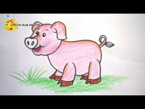 Vẽ con lợn/How to Draw Pig