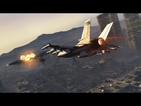 Let's Play GTA 5 - How To Steal A Fighter Jet