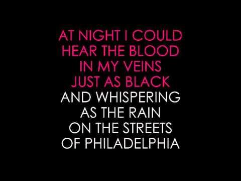 Bruce Springsteen   Streets of Philadelphia karaoke