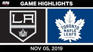 NHL Highlights   Kings vs. Maple Leafs – Nov. 5, 2019
