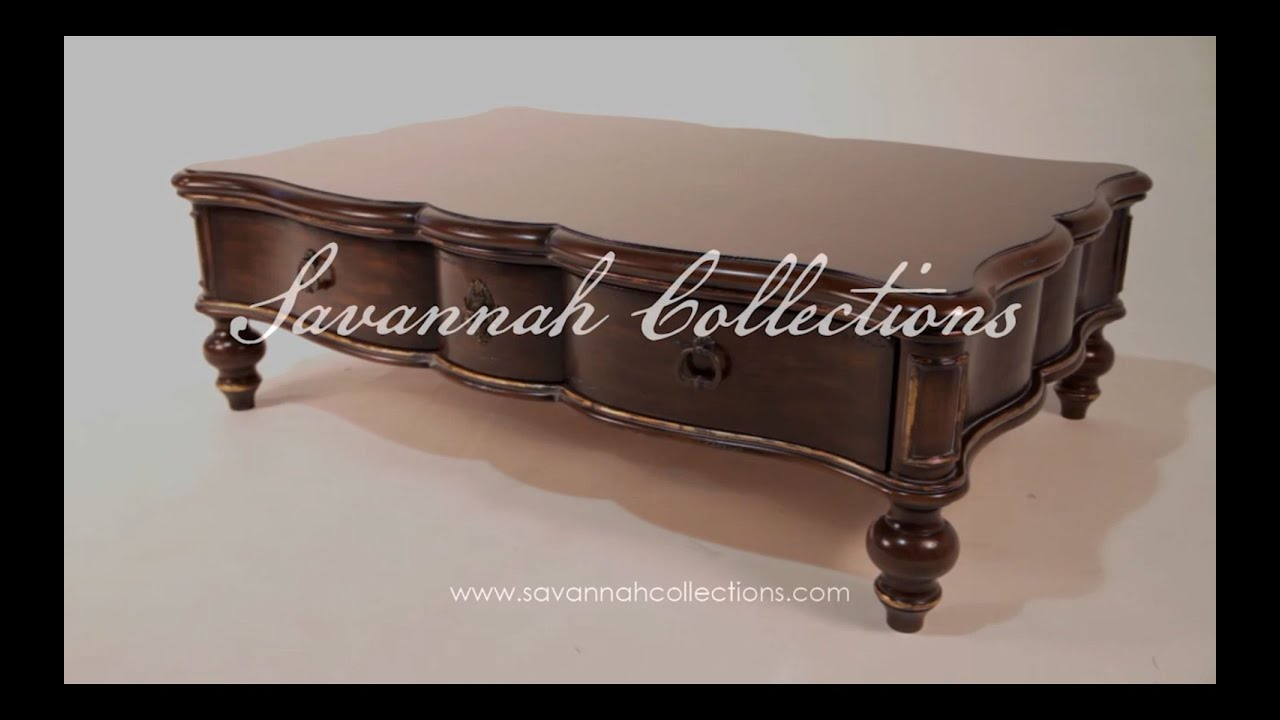 French furniture coffee table by Savannah Collections Stickley