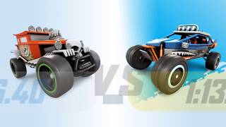 HOT WHEELS RACE OFF Multiplayer Gameplay Creature / High Speed / Muscle Cars | Stunt Racing Game