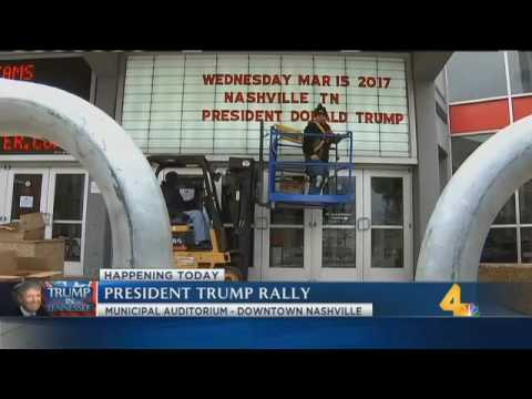 President Trump visiting The Hermitage, holding rally downtown