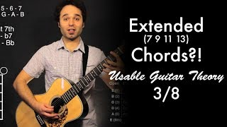 extended 7 9 11 13 chords   usable guitar theory 3 8