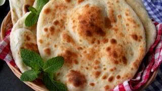 চুলায় তৈরী নান রুটি    Bangladeshi Plain Nan/Tanduri Ruti    Tawa Naan Roti without Tandoor