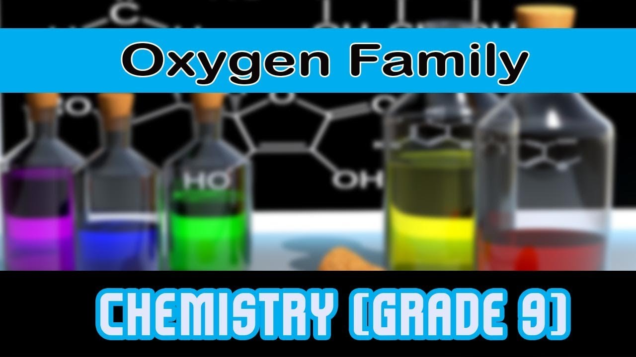 Modern Periodic Table Group 16 Oxygen Family Youtube