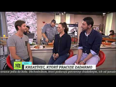 The Backpacker Intern on National Slovak TV-show 'Teleráno'