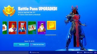 BUYING ALL 100 TIERS..!! Season 7 Battle Pass ALL UNLOCKED!! - Fortnite Battle Royale