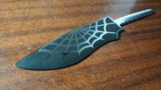 как сделать нож  ( часть 2 травление )