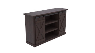 Bell'O Sawcut Espresso Cottonwood TV Stand from Twin Star International
