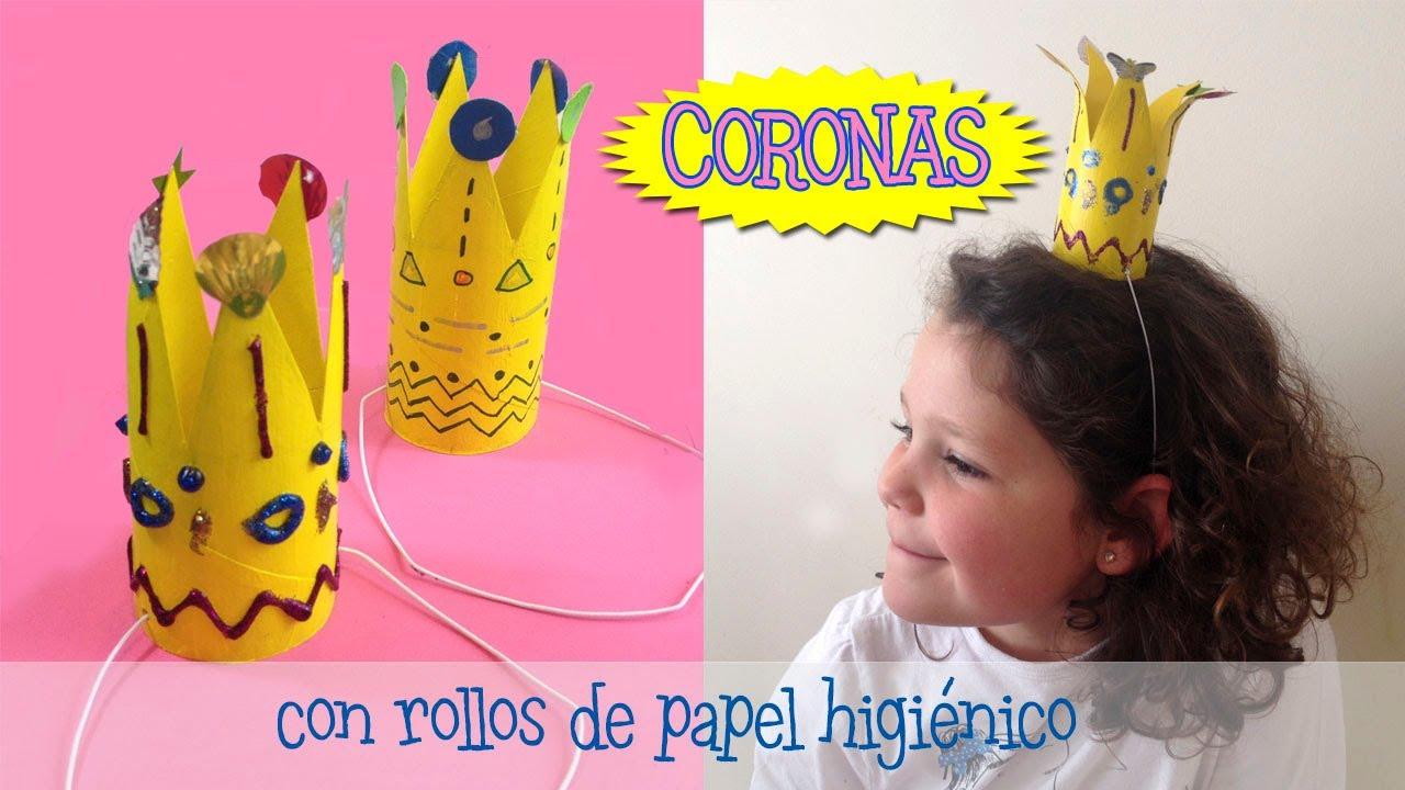 Coronas manualidades con rollos de papel higi nico para ni os youtube - Manualidades rollos de papel higienico ...
