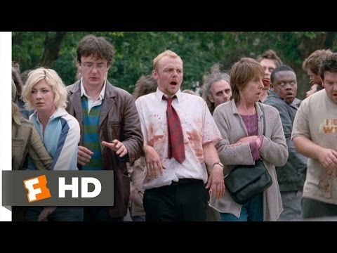 Shaun of the Dead (6/8) Movie CLIP - Acting Like Zombies (2004) HD