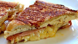 SNACK FOOD Grilled sandwich egg cheese & ham recipe
