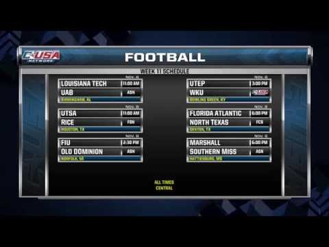 Conference USA Football Week 11 Preview