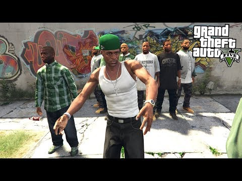 JOINING A GANG - BECOMING THE GANG LEADER!! (GTA 5 Mods)