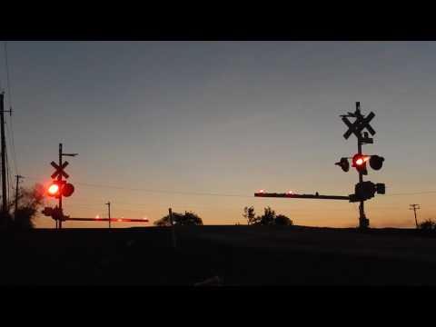Amtrak Sunset Limited Flying Through Alvin At Sunset!
