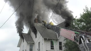 Firefighters make good hit on this working house fire in Quakertown, Pennsylvania