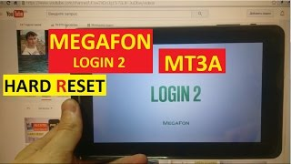 Hard reset Megafon Login 2 MT3A Сброс графического ключа megafon mt3a login 2