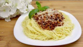 Спагетти БОЛОНЬЕЗЕ по-домашнему !  Легкий РЕЦЕПТ ! Итальянская кухня ! / Spaghetti BOLOGNESE