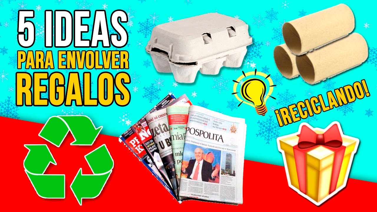 5 ideas originales para envolver tus regalos de navidad reciclando manualidades navide as - Ideas originales para decorar ...