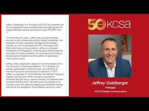 10-2-19 SmallCapVoice Interview with KCSA Strategic Communications