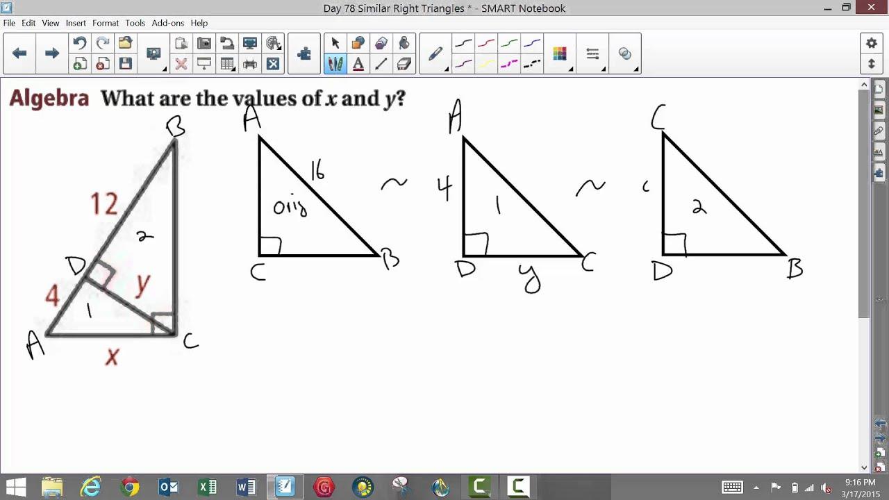 Uncategorized Similar Right Triangles Worksheet worksheet similar right triangles queensammy worksheets for 2015 youtube 2015