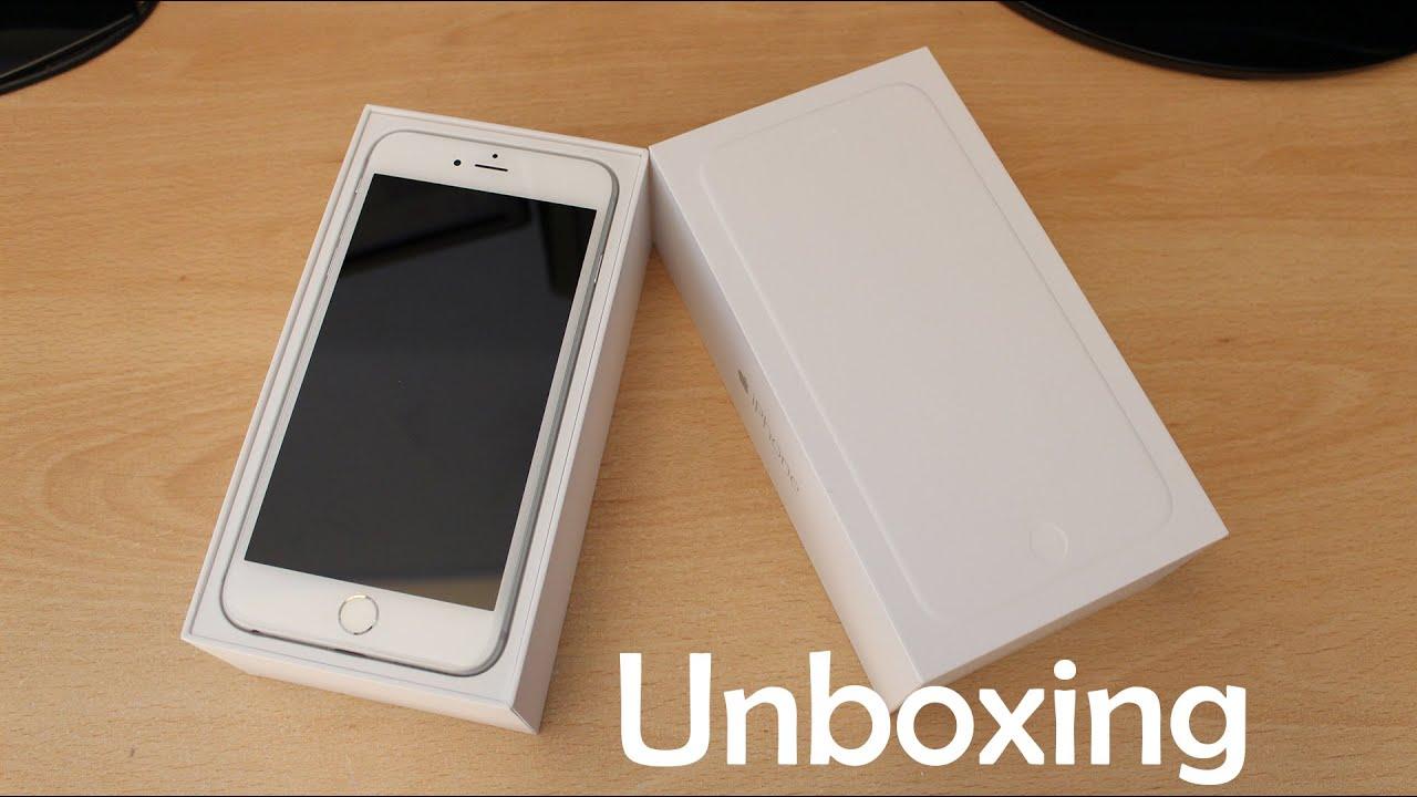 iphone 6 plus 64GB Sliver unboxing