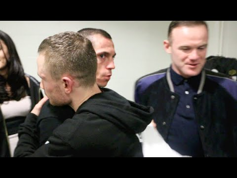 UNSEEN! - CARL FRAMPTON & SCOTT QUIGG EMBRACE IN DRESSING ROOM AFTER THEIR FIGHT (WITH WAYNE ROONEY)
