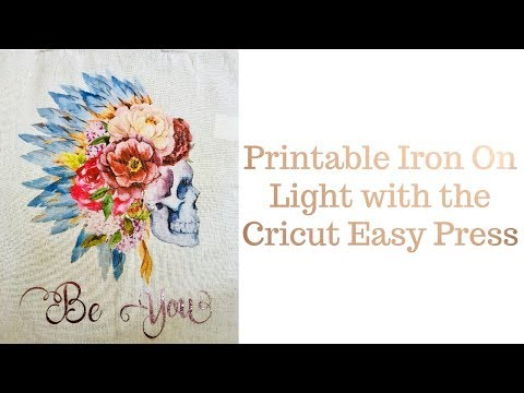 photograph regarding Printable Iron on known as Printable Iron upon Gentle - Cricut Straightforward Force - YouTube