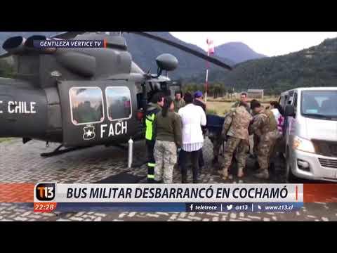 Bus militar desbarrancó en Cochamó