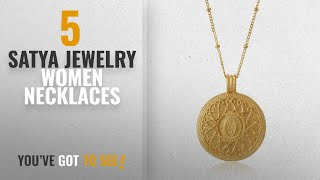 10 Best Satya Jewelry Design Women Necklaces: Satya Jewelry Gold Hamsa Mandala Pendant Necklace
