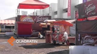 Trifulca en Feria de Querétaro; causan destrozos.