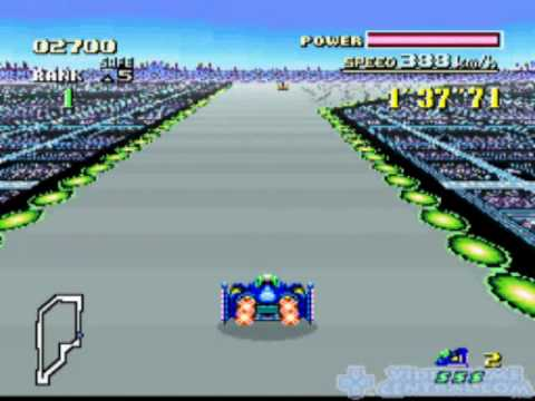 FZero Super Nintendo Gameplay -  SNES F-Zero Game Video