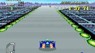 FZero Super Nintendo Gameplay -  SNES F-Zero Game Video