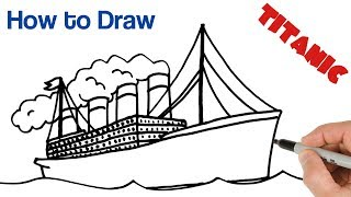 How to Draw Titanic Super Easy Art Tutorial for Beginners