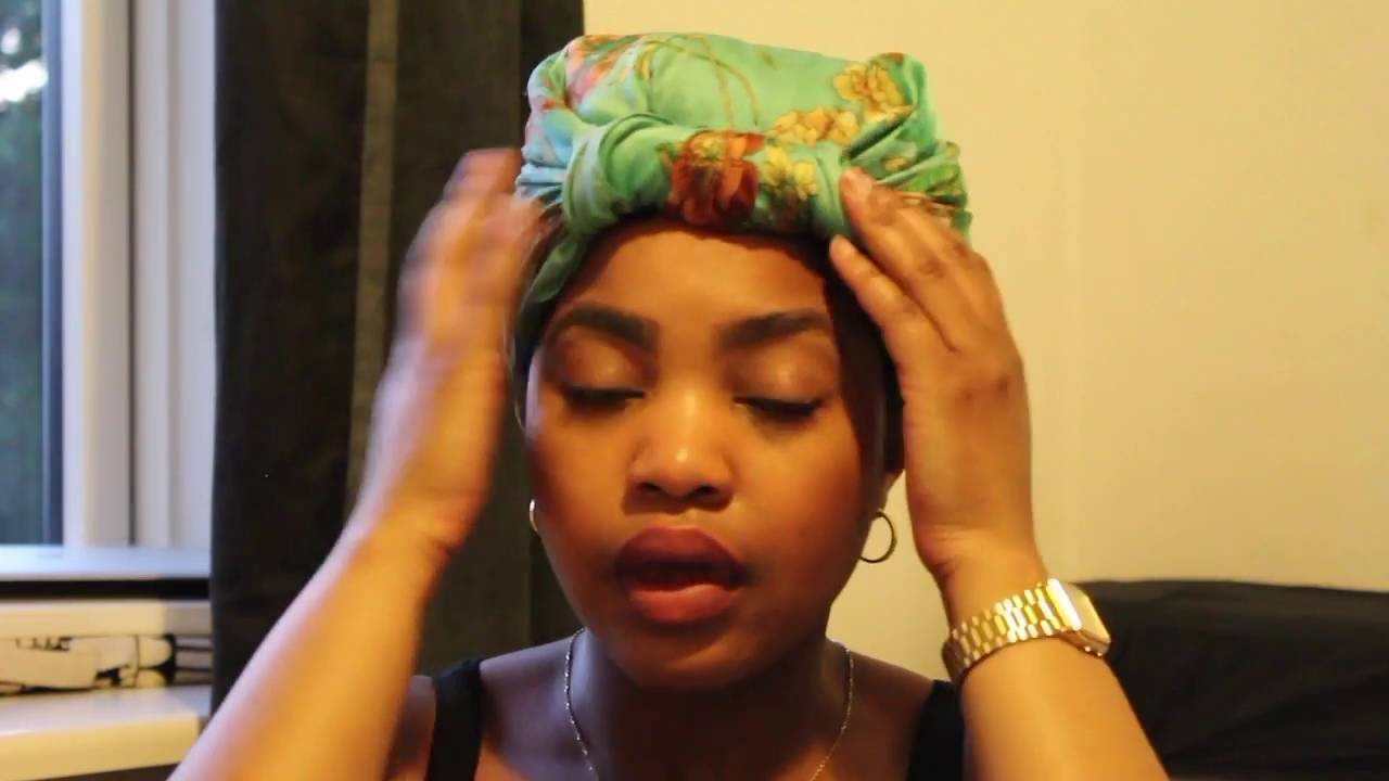 How I Tie My Headscarf For Bed Youtube