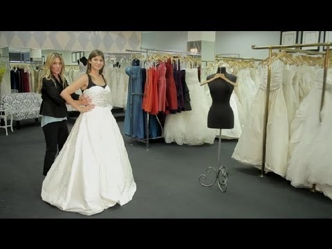 How to Put on a Wedding Dress or a Stock Bridal Gown : How to Dress ...