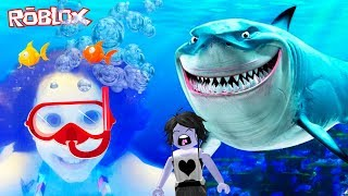 ROBLOX-PREY in the AQUARIUM WITH MY MOTHER (Escape The Aquarium Obby) | Luluca Games