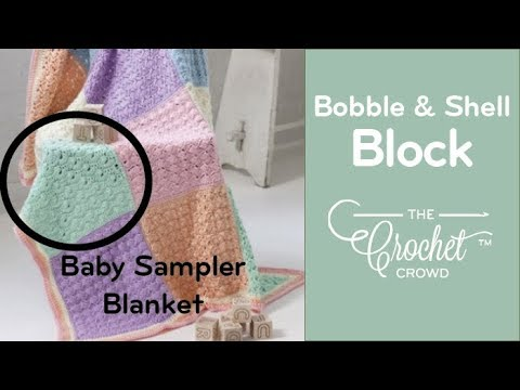 Youtube Crocheting Baby Blanket : How to Crochet A Baby Blanket: Block 2 Sampler - YouTube